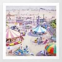 Coney Island Carnivale II Art Print