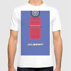 Essence of Jalopnik White SMALL Mens Fitted Tee