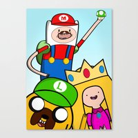 It's Mario Time! Canvas Print