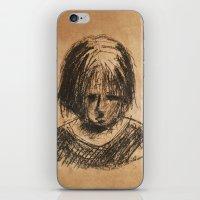 sad girl iPhone & iPod Skin