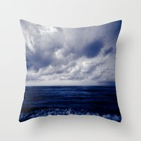 summer ver.blueblack Throw Pillow
