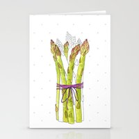 asparagus and mushrooms Stationery Cards