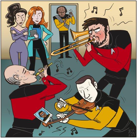 Star Trek Jam Band Canvas Print