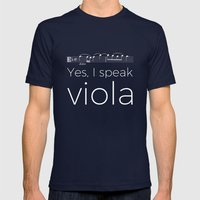 Yes, I speak viola Mens Fitted Tee Navy SMALL