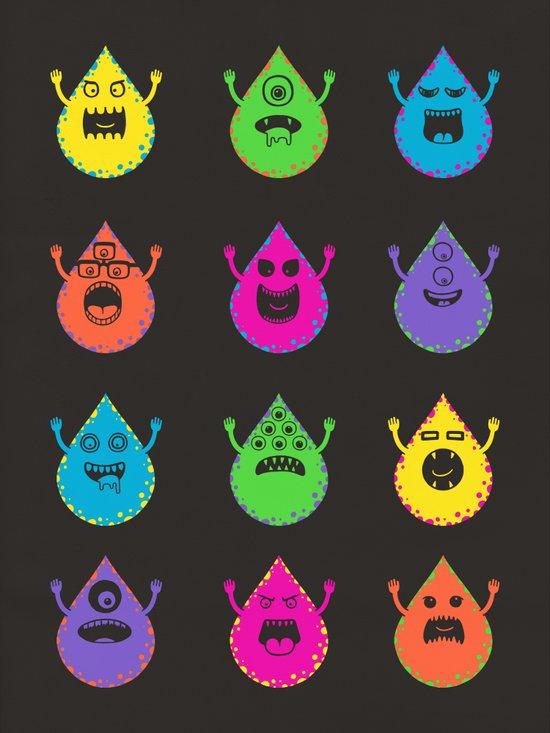 Raining Monsters Art Print