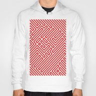 Optical Chaos 02 Red Hoody