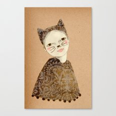 Kiki Kitty Canvas Print