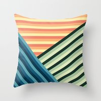 Stripes Are Us Throw Pillow