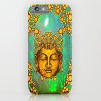 iPhone Cases featuring Gold Art Deco  Green Fire Opal Gem Design by sharlesart