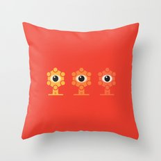 Sphere Eyes Red Throw Pillow