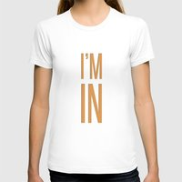 In Womens Fitted Tee White SMALL