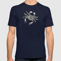 Crab Three Mens Fitted Tee Navy SMALL