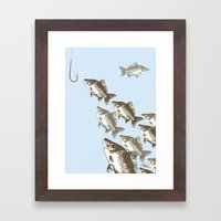 The Smart Fish Framed Art Print