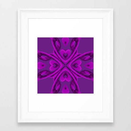 Hot Pink Hearts Framed Art Print
