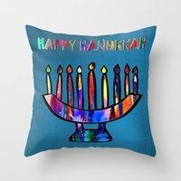 Happy Hanukkah! Throw Pillow