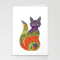 alice in wonderland Stationery Cards featuring Wonderland by Heather Searles