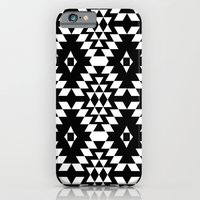 Aztec Inspired Pattern White & Black iPhone 6 Slim Case