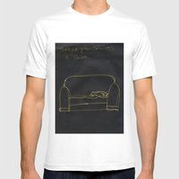 Not Your Cat Mens Fitted Tee White SMALL