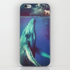 The Whale and the Wolf iPhone & iPod Skin