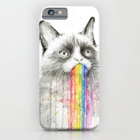 Grumpy Rainbow Cat Watercolor iPhone 6 Slim Case
