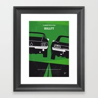 No214 My BULLITT minimal movie poster Framed Art Print