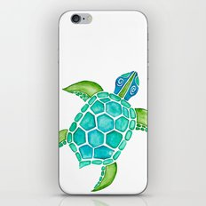 Watercolor Sea Turtle iPhone & iPod Skin