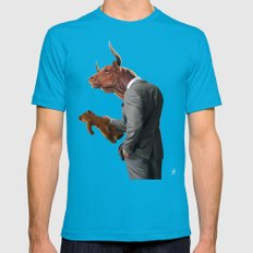 Bull Mens Fitted Tee Teal SMALL