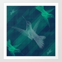 Flight Of The Hummingbir… Art Print