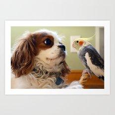 Best Friends Stick Together Art Print