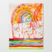 Shine On Me Like The Sun (No.16) Canvas Print