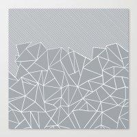 Ab Linear Grey Canvas Print