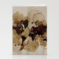 Map Stains Stationery Cards