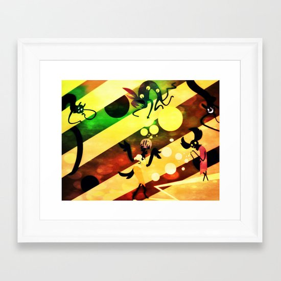 moon blot polaroid Framed Art Print
