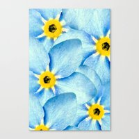 Canvas Print featuring Forget Me Not by SalbyN