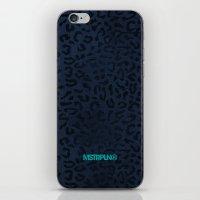 Modern Woodgrain Camouflage / Zaire KDP Print Purple iPhone & iPod Skin