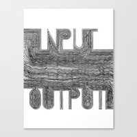 OutputInput Canvas Print