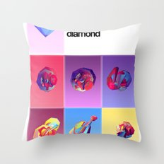 Crystallographic defects in diamond Throw Pillow