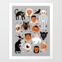 halloween Art Prints featuring Halloween by Greg Abbott