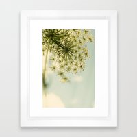 Botanical Queen Anne's Lace Framed Art Print