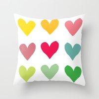 Heart pattern art  Throw Pillow