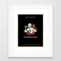 Paintballers Framed Art Print