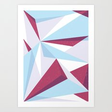 Maroon & sky  Art Print