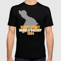 Duck Hunt Gaming Quote SMALL Black Mens Fitted Tee