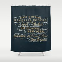 Kimball & Rogers Boot Blackers Shower Curtain