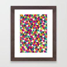 Crazy Pattern Framed Art Print