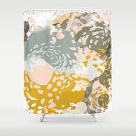 Hutton - Modern Abstract… Shower Curtain