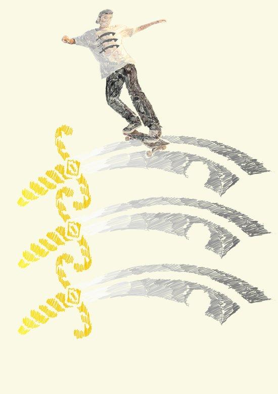 essex skateboarding  Art Print
