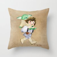 Not a backpack Throw Pillow