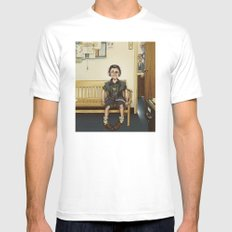 Loki Outside the Principal's Office SMALL White Mens Fitted Tee