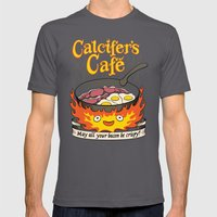 Calcifer's Cafe Mens Fitted Tee Asphalt SMALL